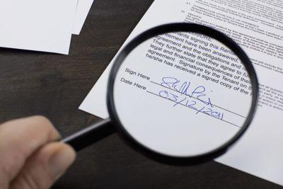 Experiencia caligráfica en firmas